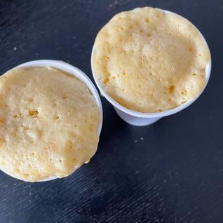 ホケミで簡単 たまご蒸しパン
