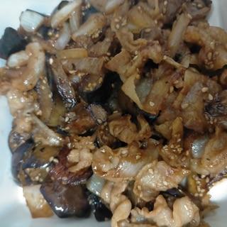 豚肉茄子新玉ねぎの甘味噌炒め