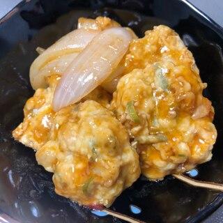 鶏団子のチリソース甘酢焼き