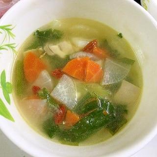 ゆりねと鶏肉のスープ