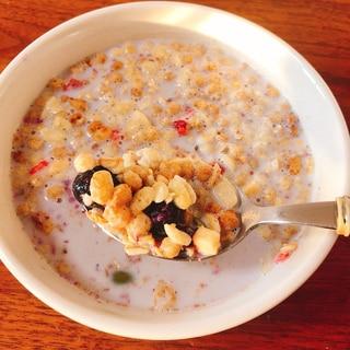 冬にもフルーツグラノーラで温朝食!