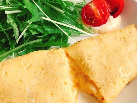 牛乳で簡単!ふんわりチーズオムレツ