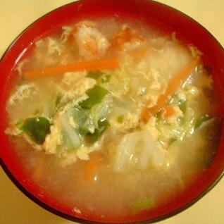 白菜の溶き卵スープ