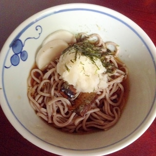 ニシンの甘露煮deおろし蕎麦【冷たい☆にしんソバ】
