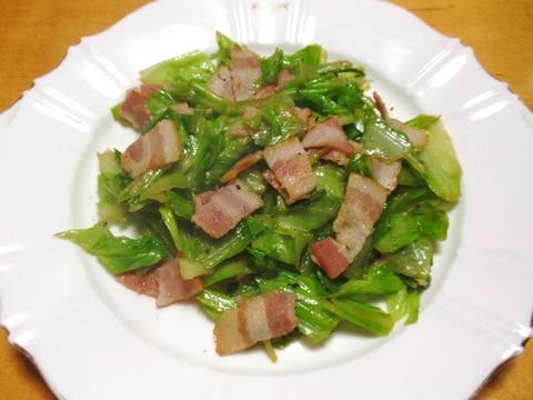 お弁当に☆簡単キャベツとベーコン炒め☆
