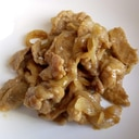 豚小間切れ肉と玉ねぎの生姜焼き