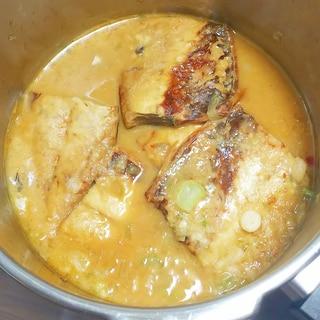 圧力鍋で塩さばの味噌煮