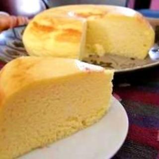 炊飯器で作るふんわりチーズケーキ!