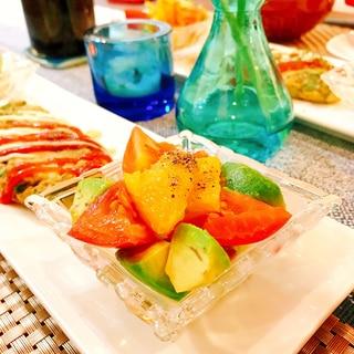 アボカドとトマトとオレンジのサラダ♡