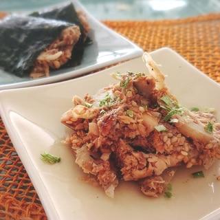 [混ぜるだけ]いわし蒲焼きと大豆の和風フムス