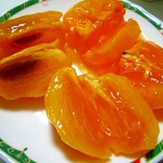 熟柿(焼酎で柿の渋抜き)