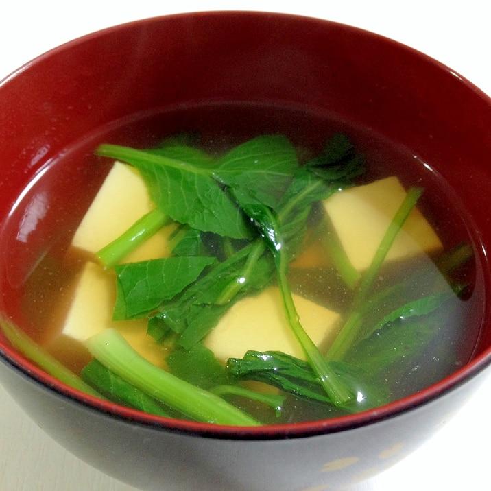 めんつゆで簡単☆豆腐とほうれん草のお吸い物
