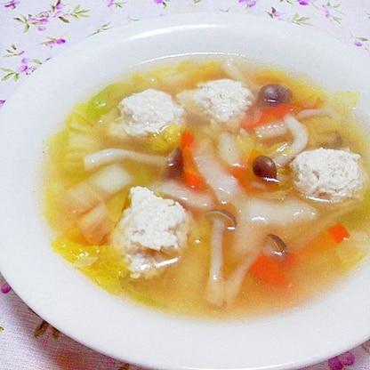 あったか~い♪鶏団子のおかずスープ