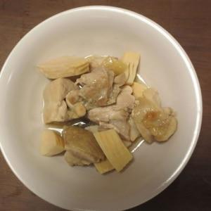作り置きにも!簡単☆鶏もも肉と筍の煮物☆はちく筍
