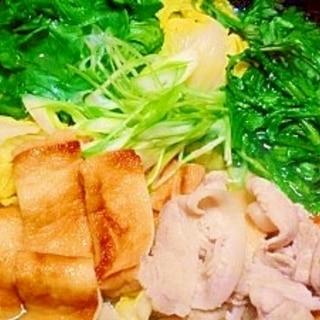 焼き油揚げ☆豚バラ野菜鍋