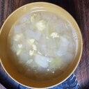 炒り卵とキャベツと玉ねぎのスープ