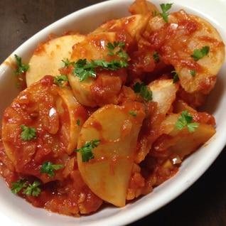 かぶのトマト煮♪