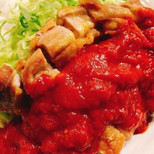 簡単◎チキンステーキトマトソース