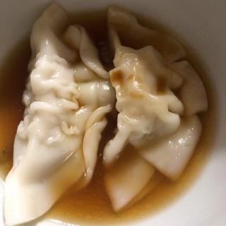 水餃子ゆずポン酢スープ