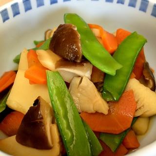 絹さやと根菜の煮物