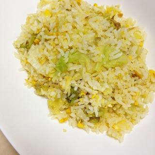 タイ米で作るレタスチャーハン