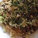 プチハンバーグ風豚ひき肉のお好み焼き(大阪風)