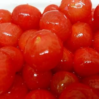 大量消費☆冷え冷え☆ミニトマトのハチミツレモン漬