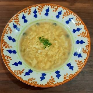 ふわふわ卵の洋風スープ