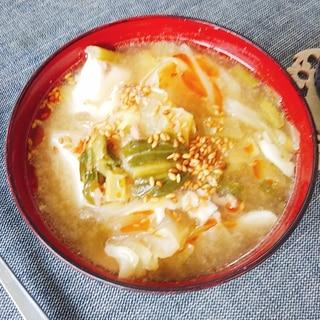 ごまだれを使った坦々スープ