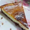 ヨーグルト風味たっぷりのレアチーズケーキ