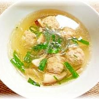 ♪♪肉団子のマロニー中華風スープ♪♪
