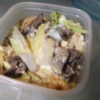 レンジで肉豆腐。