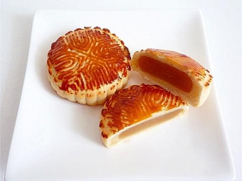蓮蓉月餅 蓮の実餡の月餅