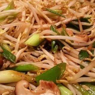 モヤシと椎茸のポン酢炒め