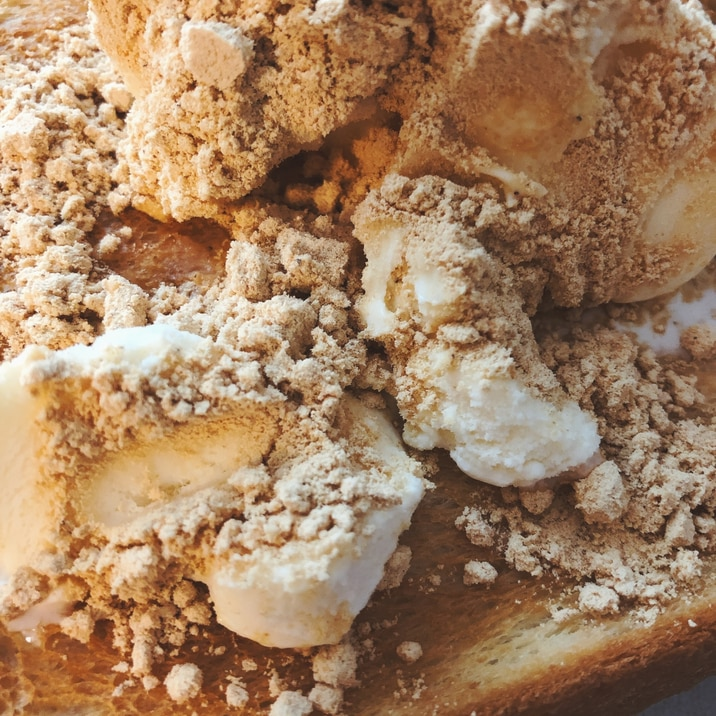 バニラきな粉のせトースト