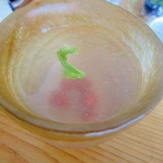ライムとデトックスさくらんぼのパクチー生姜茶