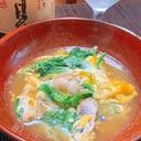 お酒もご飯もすすむ、鱧と壬生菜の卵とじ
