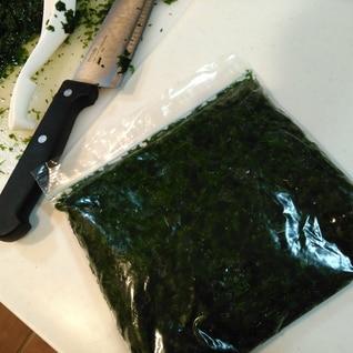 冷凍保存OK☆「アカモク」茹で方、切り方、保存方法
