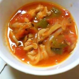子供も食べやすい鶏肉のトマト煮こみ