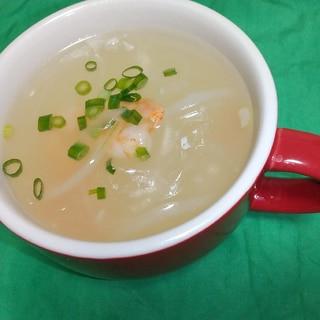 簡単☆時短☆えびと春雨のスープ