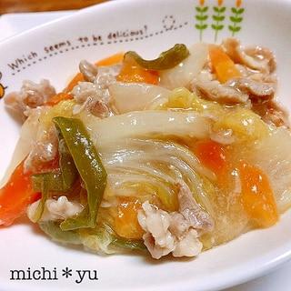 甘酒味噌で白菜と豚肉の旨煮