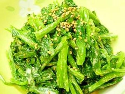 いっぱい食べよう♪♫♩♬「小松菜のゴマヨ和え」