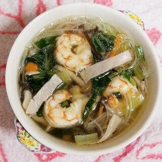 えびとビーフンのスープ