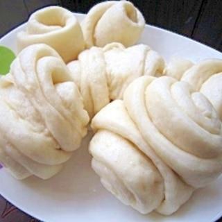 中華風蒸しパン★基本の花巻