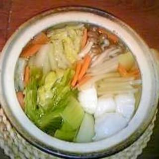 ラー油ポン酢で食べる☆もちもち餃子の中華鍋