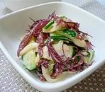 ふのりと野菜のゴマダレ風和え物