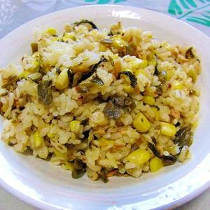 ツナと辛子高菜の炒飯