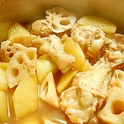 鶏と大根とレンコンの煮物