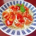 簡単冷製トマトうどん