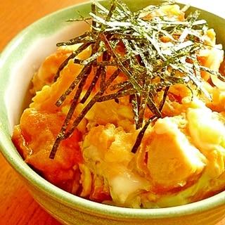 冷凍から揚げの親子丼☆